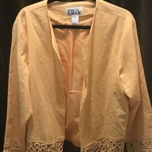 Peach linen jacket
